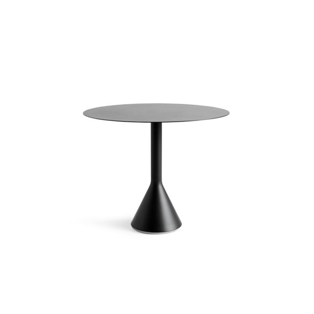 table ronde palissade cone carbone o 90 cm
