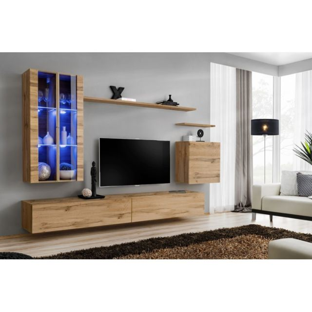 meuble tv mural design switch xii 270cm naturel