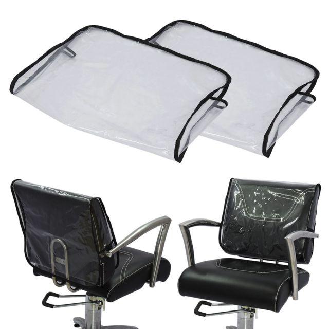 2x couverture arriere de chaise claire pour salon de beaute spa chaise de