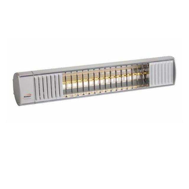 rampe de chauffage electrique 1 65kw 64cm alu poli terrasse interieur burda