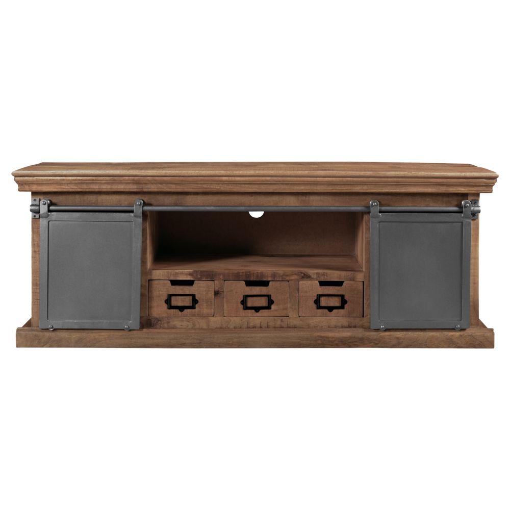 rendez vous deco meuble tv tabuk en bois de manguier