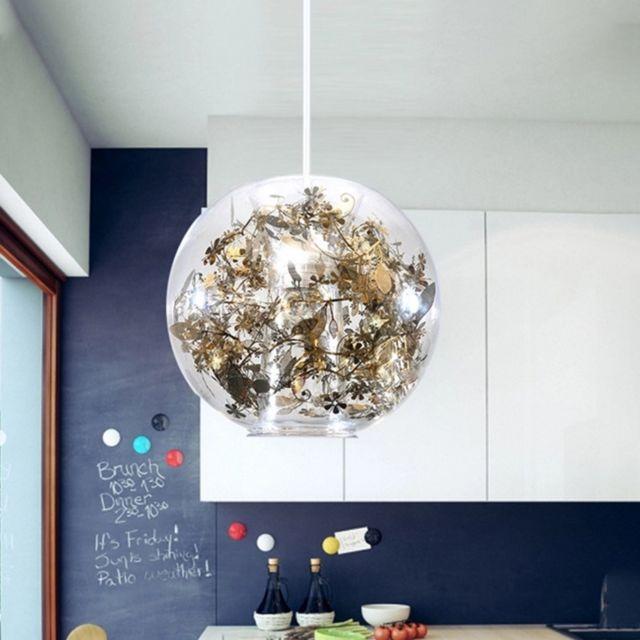 suspension luminaire lustre lampe suspendue 4w moderne verre art creative avec
