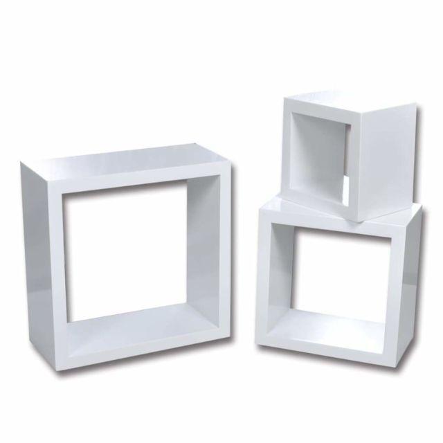 etagere armoire meuble design murales sous forme de cube 6 pcs blanc 2702238 2