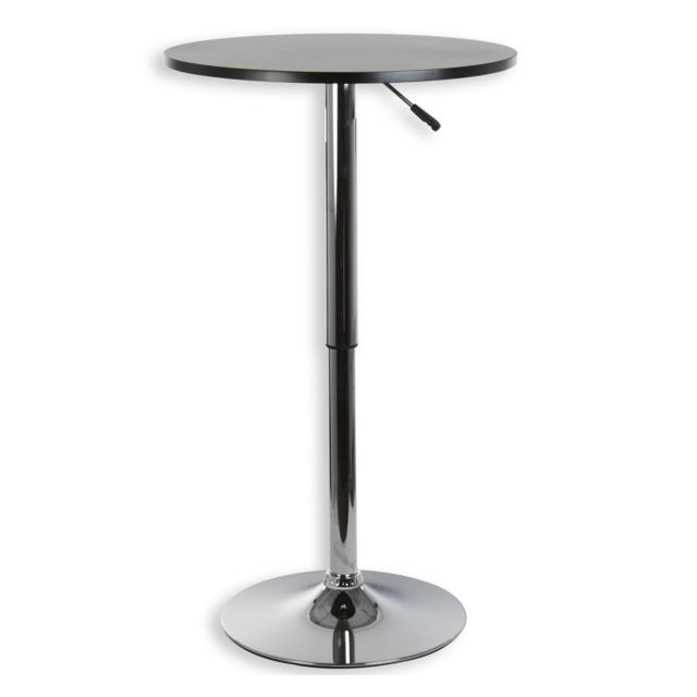 table haute de bar vista table bistrot ronde mange debout hauteur reglable avec