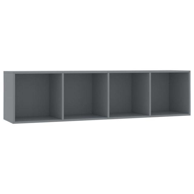 icaverne etageres murales et corniches gamme bibliotheque meuble tv gris