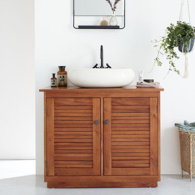 meuble sous vasque colonial en bois d acajou 97