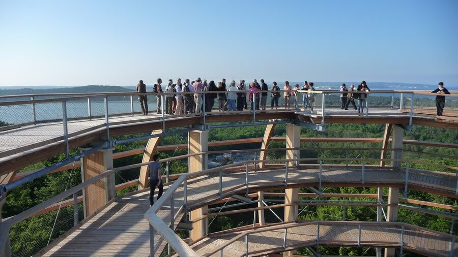 Schöne Aussicht über die Ostsee von oben
