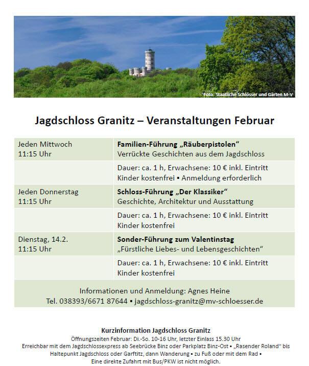 Jagdschloss Granitz Termine Februar 2017