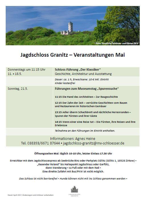 Jagdschloss Granitz Termine Mai 2017