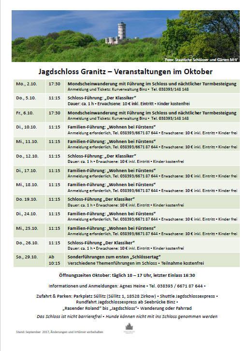 Jagdschloss Granitz Oktober 2017