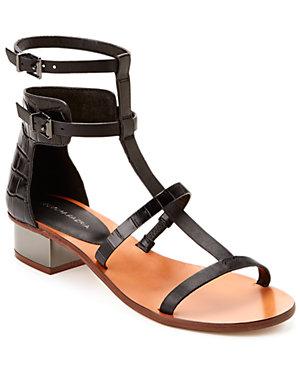 BCBGMAXAZRIA 'Cross' Leather Sandal