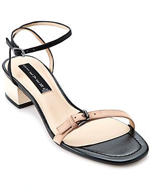 STEVEN by Steve Madden 'Linda' Leather Heeled Sandal