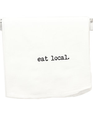 Set of 2 'Eat Local' Tea Towels