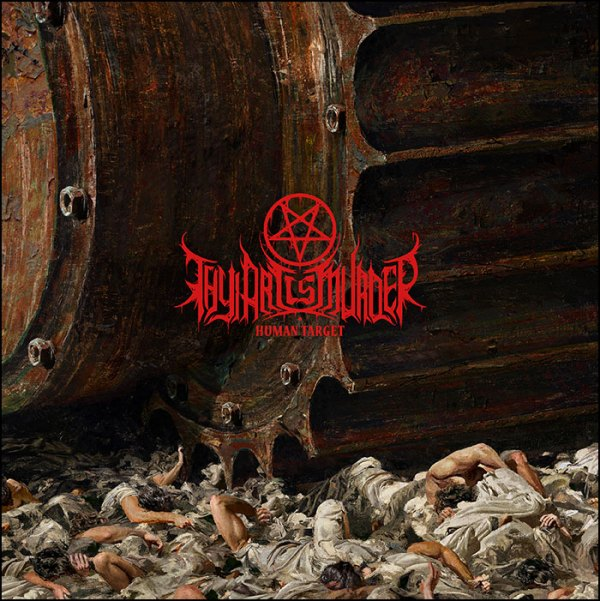 Thy Art Is Murder: Human Target (Red With Black Splatter)