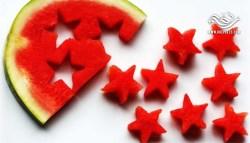 أسهل وأسرع تحلية لتقديم البطيخ سوف تشاهدها في حياتك . رائع