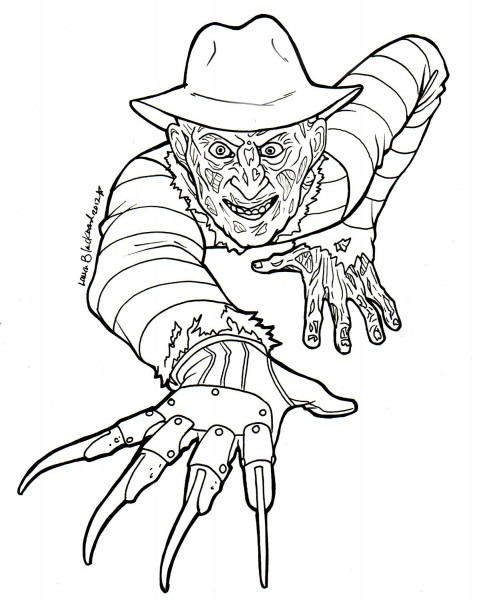 Freddy Krueger Coloring Pages Printable