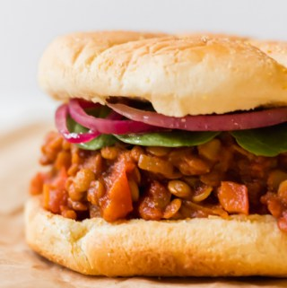 sloppy joe sandwich made from lentils