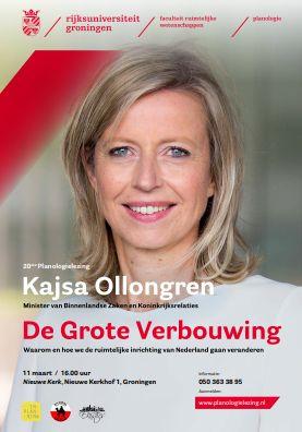 Planologielezing met Kajsa Ollongren