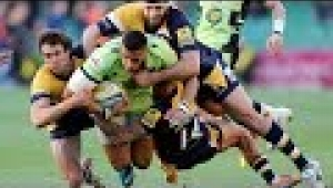 video rugby Worcester Warriors vs Northampton Saints - Aviva Premiership Rugby 2013/14