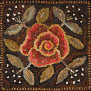 rug hooked square
