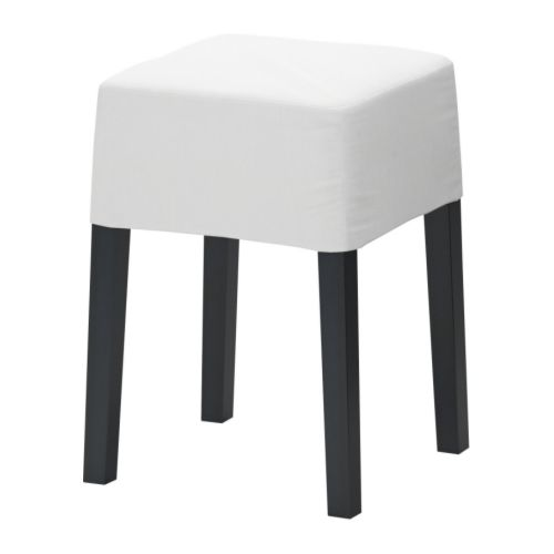 IKEA stool, rug hook your own cover