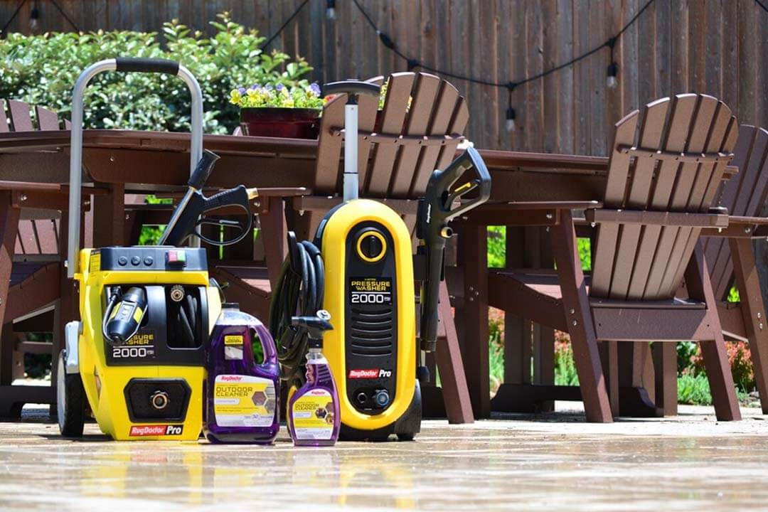 siding with a pressure washer rental