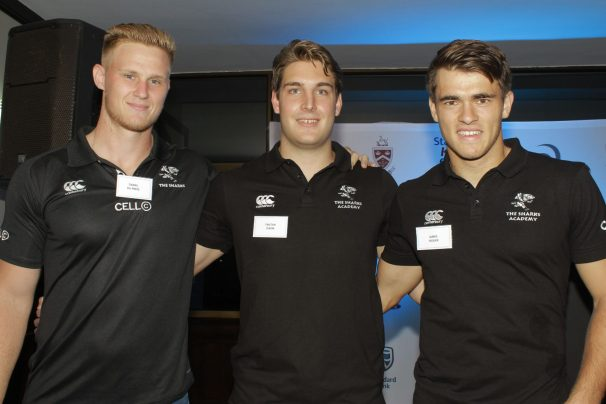 KERF launch - Kearsney old boys Daniel du Preez (Sharks), Tristan Dixon (Sharks U21) and James Tedder (Sharks U21)