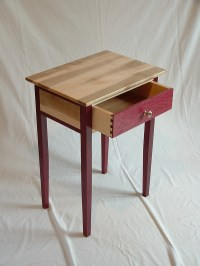 Purple Heart, Cherry and Curly Maple Furniture