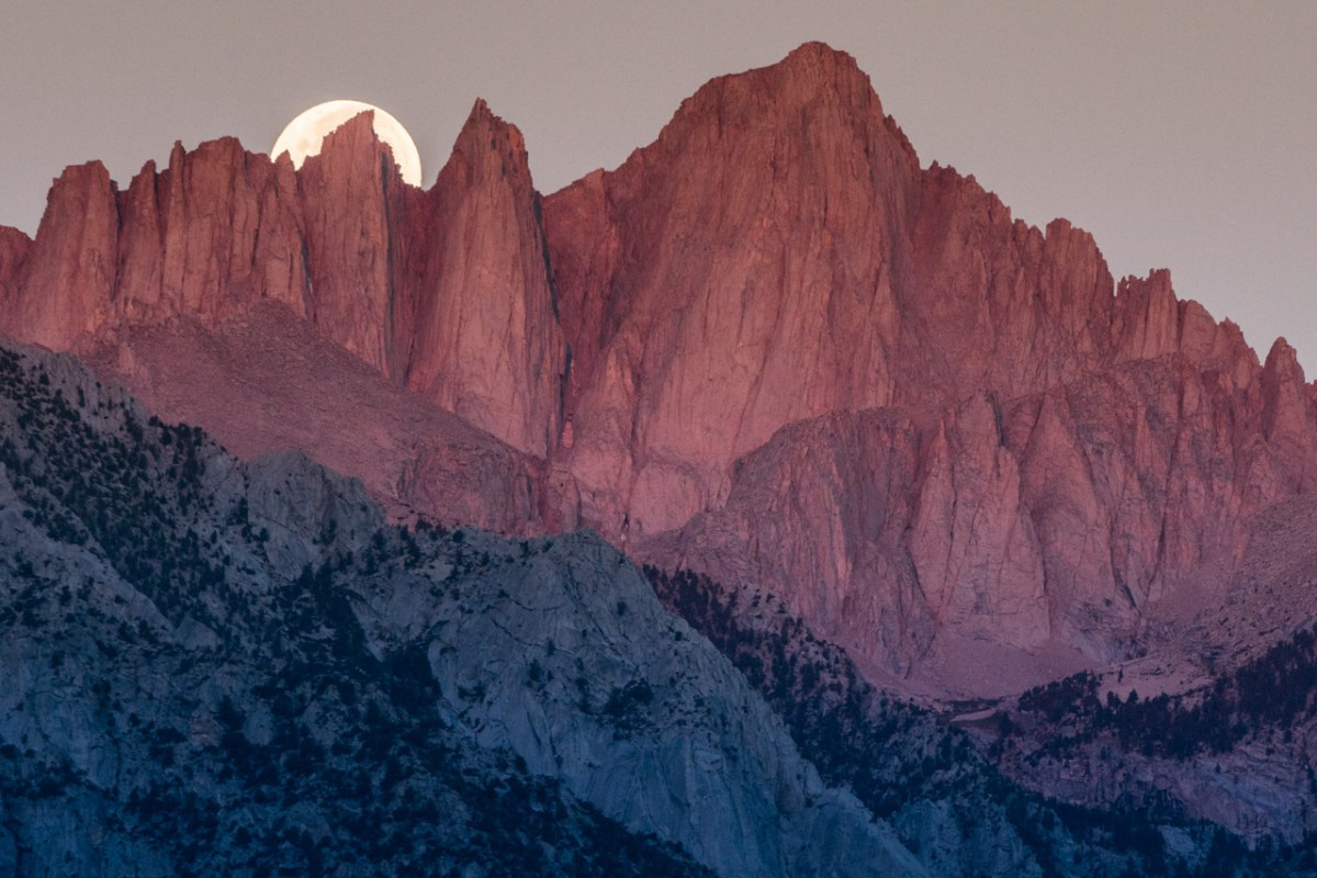 Supermoon on Mount Whitney