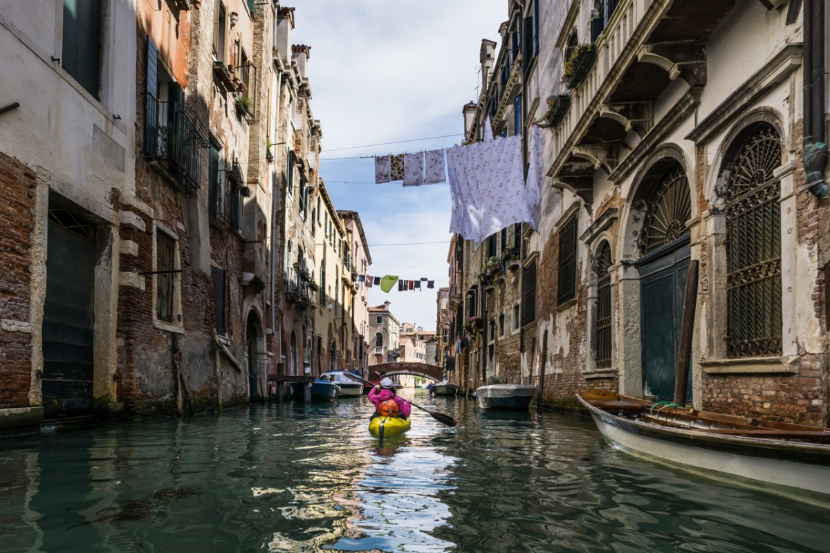 kayak in Venezia