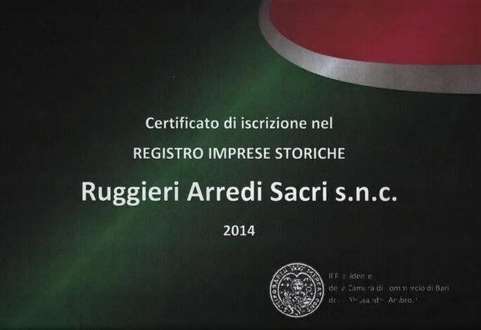 Certificato Unioncamere