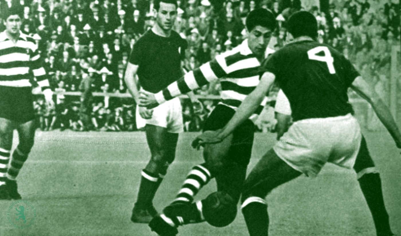 Em 1960, vitória concludente por 7-1 em Setúbal
