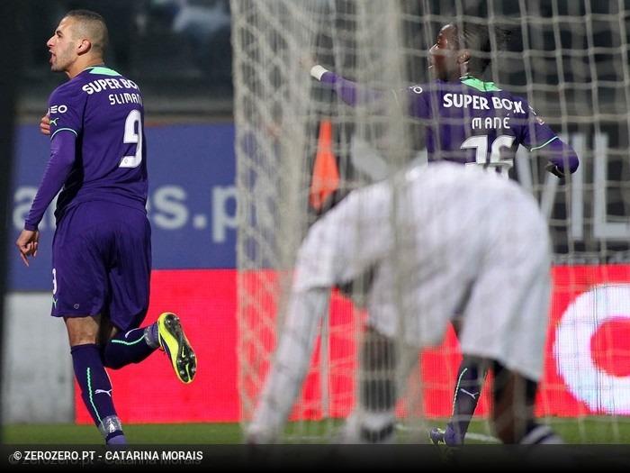 Em 2013, Sporting vence em Guimarães, com golo de Slimani aos 90′ e fica a 1 ponto do 1º lugar
