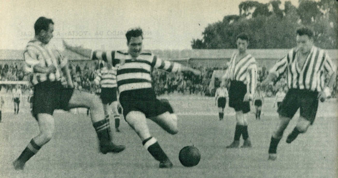 Neste dia… em 1947, Sporting  – 4 x At. Bilbao – 4, na inauguração do remodelado Stadium de Lisboa