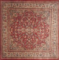Square Red Rug - Rugs Ideas