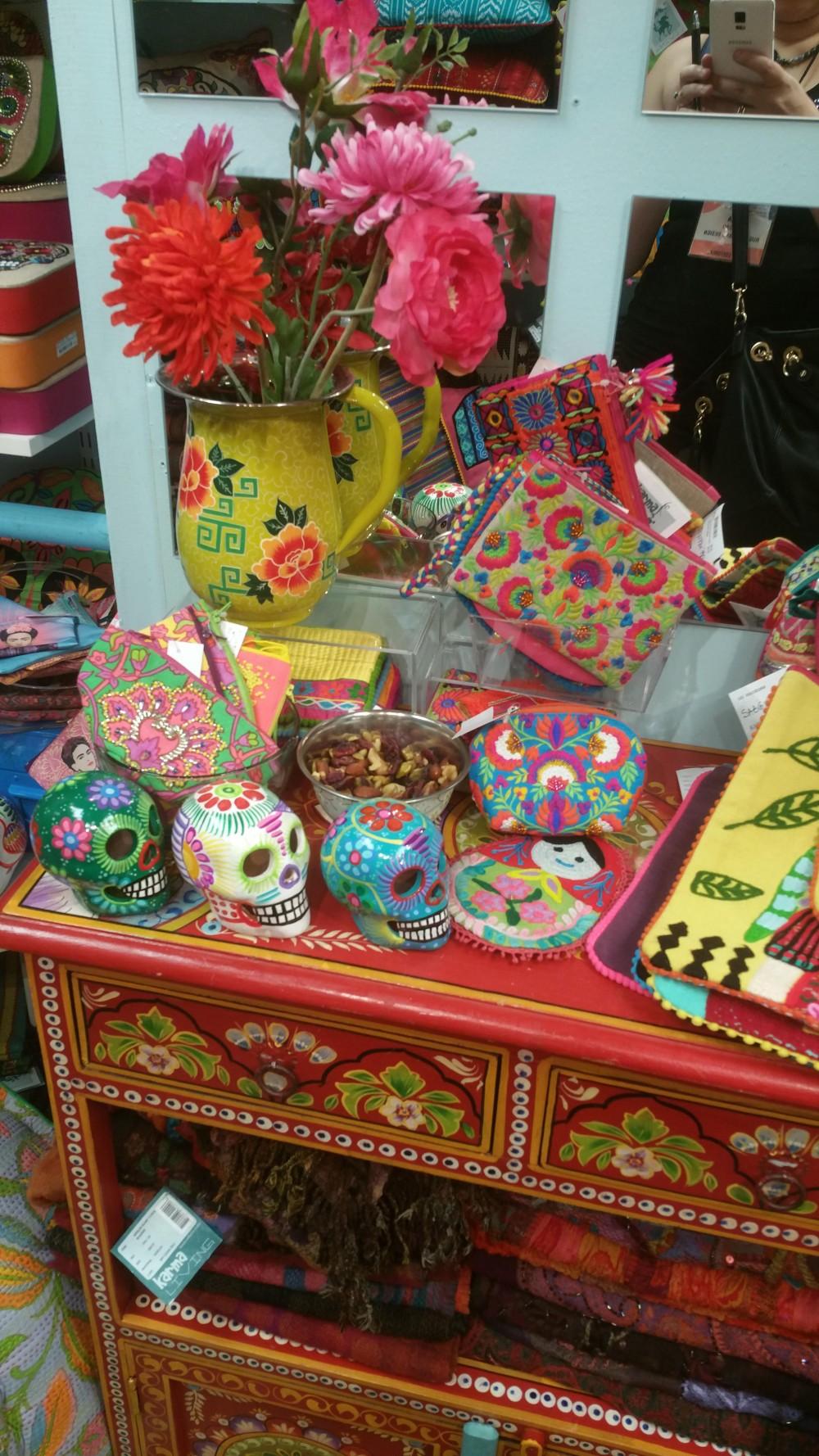 New Colorful Karma Living Design pillows ottomans