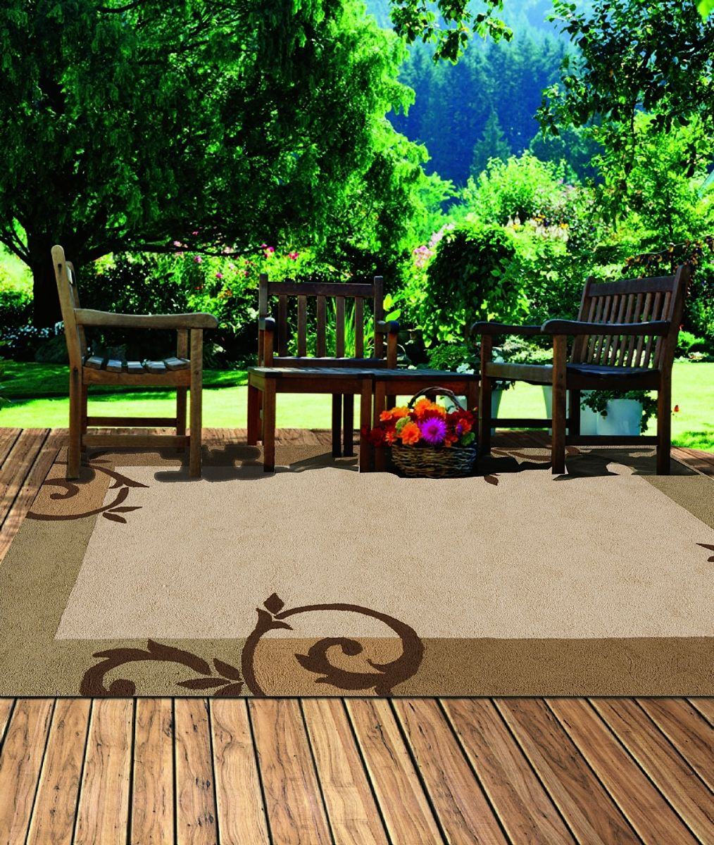 outdoor pouf chair white club chairs momeni veranda indoor area rug collection - rugpal.com vr-14-1300