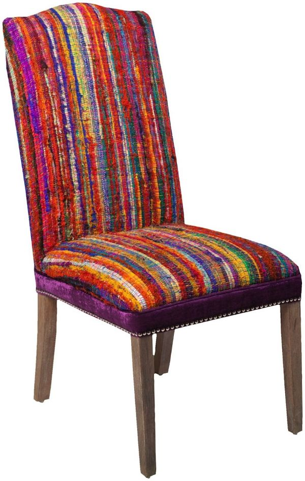 Surya Multi Striped Contemporary Accent Chairs - Rugpal