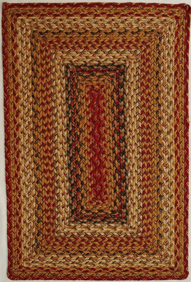 Homespice Decor Mustard Seed Braided Area Rug Collection