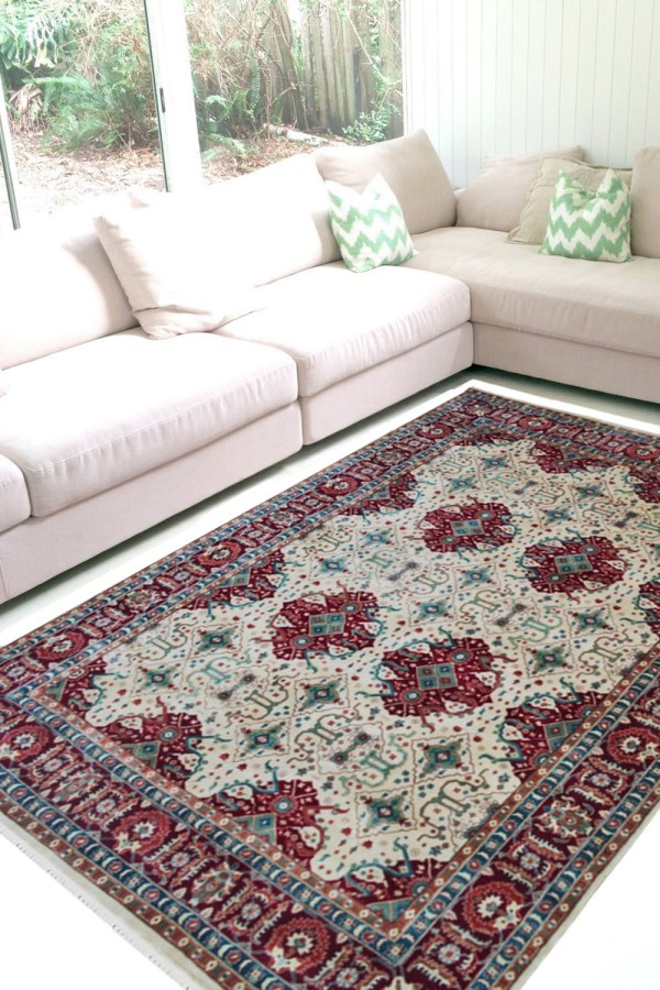 Beautiful Handknotted Jewel Traditional Wool Area Rug