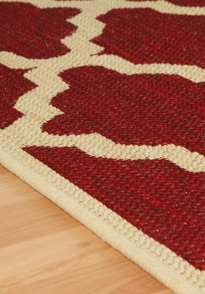 Moda Flatweave rug by Oriental Weavers design Trellis Red