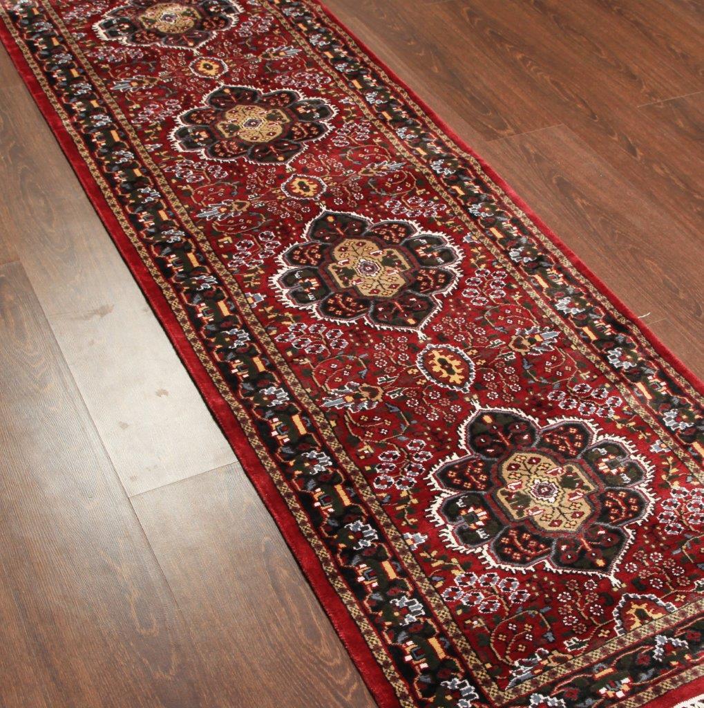 Rugsville Silk Kashmir Carpet Hand knotted Red Carpet