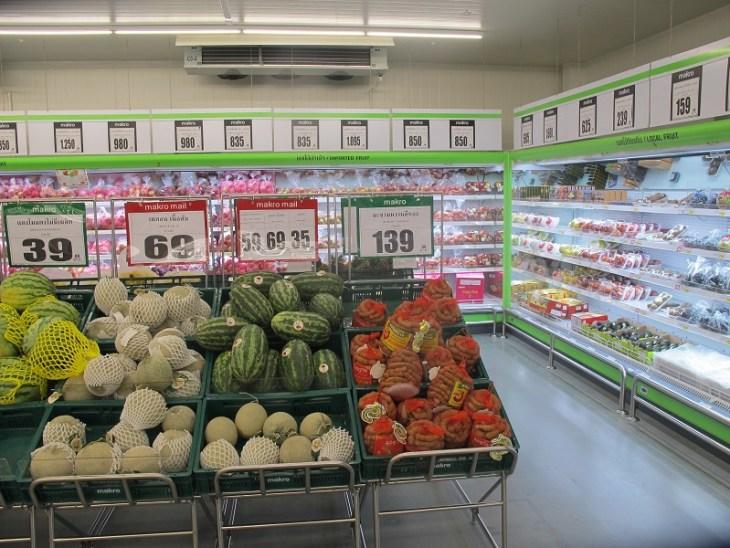 Makro Thailand Obst und Gemuese Abteilung