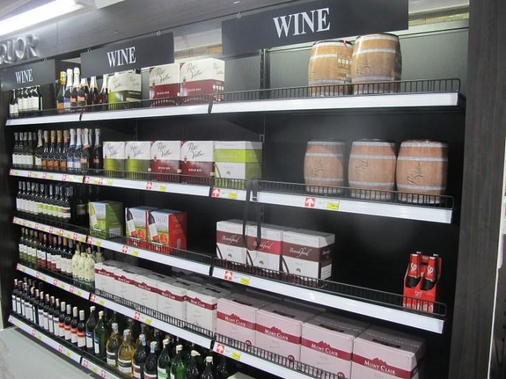 Makro Thailand Wein Abteilung
