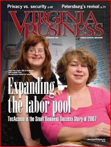 Debra and Sara Ruh on the Cover of Virginia Business