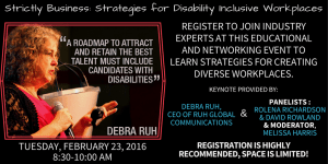 Debra Ruh, Featured Keynote at JVS Chicago's Strictly Business: Strategies for Disability Inclusive Workplaces