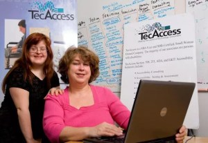 Debra and Sara Ruh at Tec Access