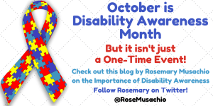 October is Disability Awareness Month Banner