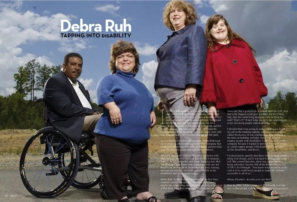 Debra and Sarah Posing on a cover for Newspaper.