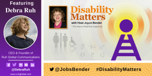 Debra Ruh appearing on Disability Matters Banner